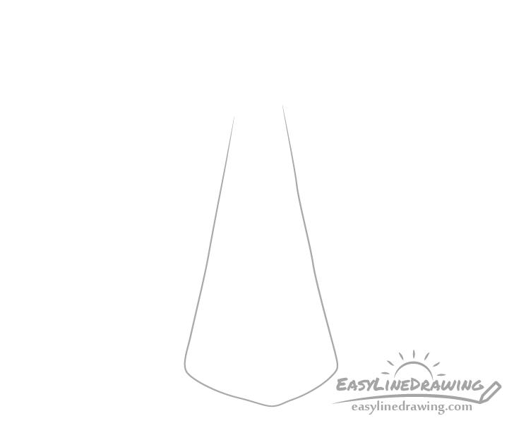 Towel center fold drawing
