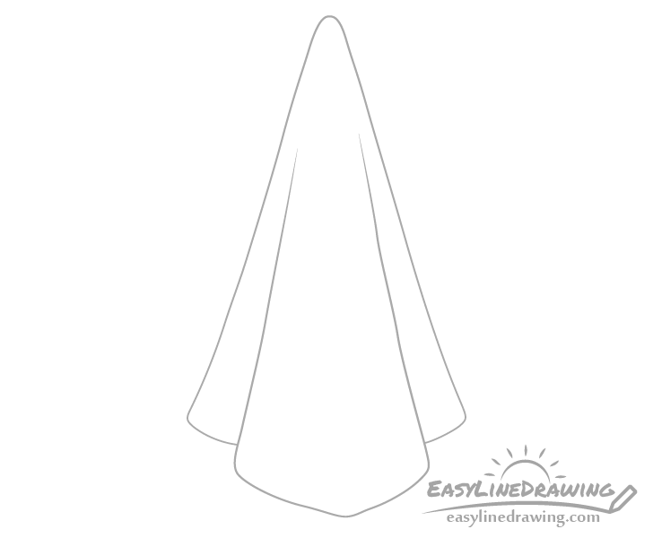 Towel outline drawing