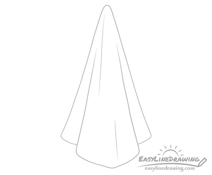 Towel wrinkles drawing
