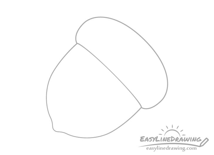 Acorn cap drawing