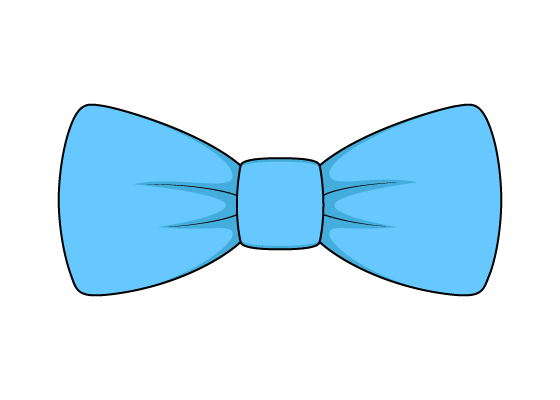 Bow tie drawing tutorial