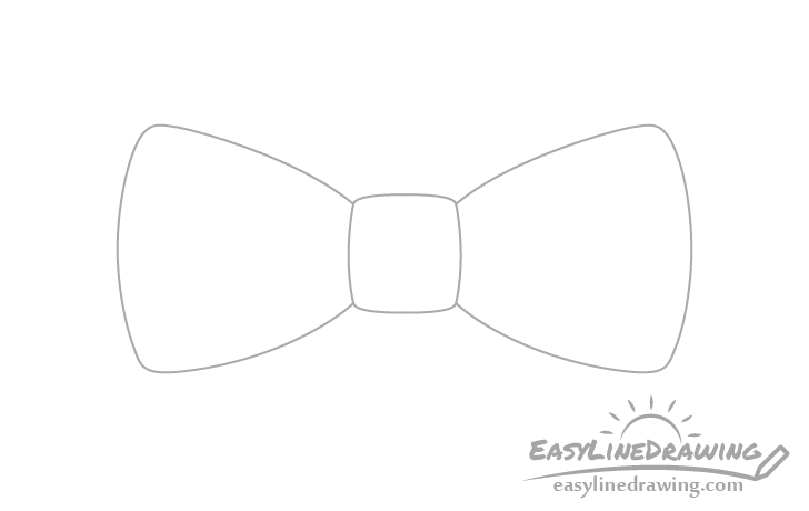 Bow tie outline drawing