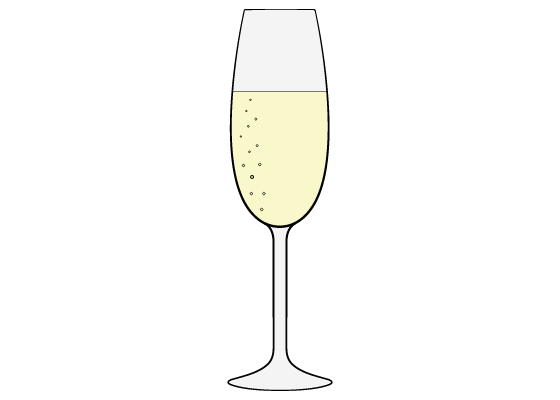 Champagne glass drawing