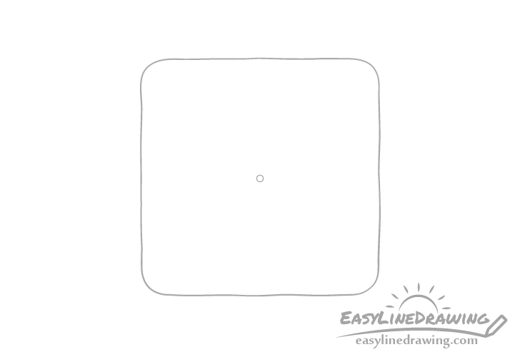 Cracker center hole drawing