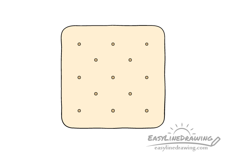 Cracker drawing coloring