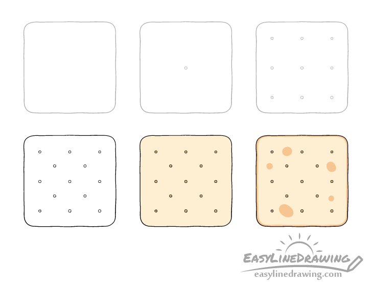 Cracker drawing step by step