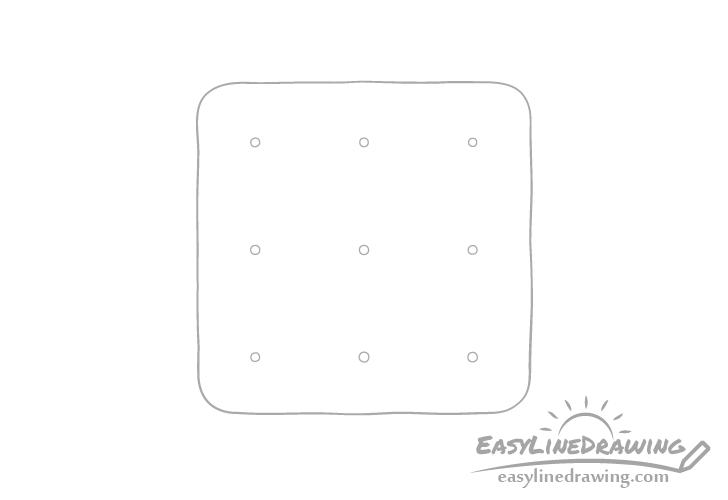 Cracker holes drawing