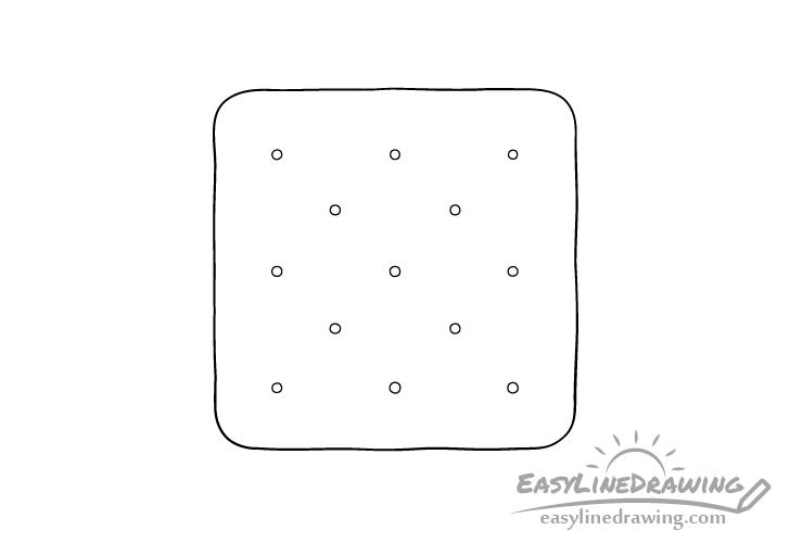 Cracker line drawing