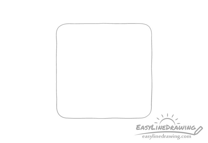 Cracker outline drawing