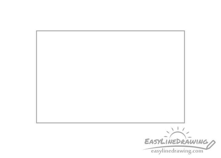 Envelope outline drawing