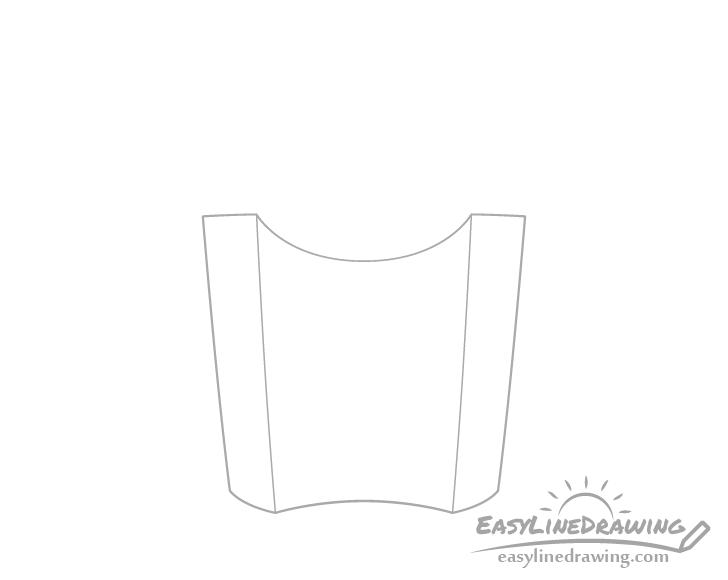 Fries box corners drawing