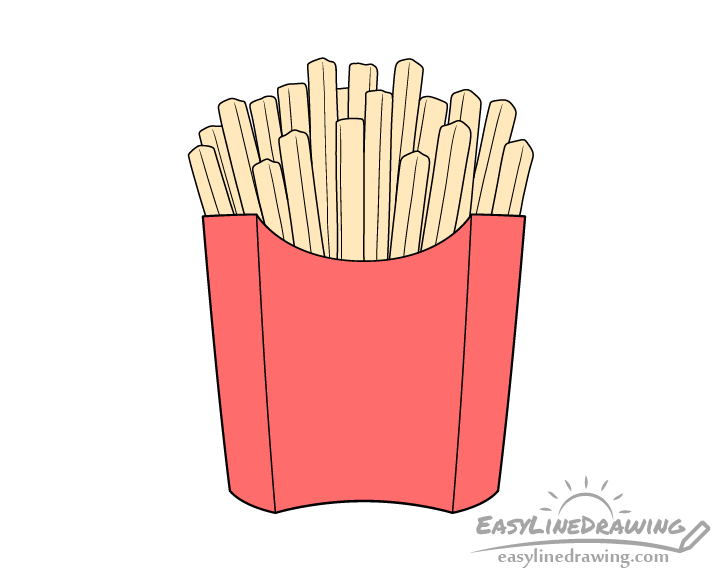 Fries drawing coloring