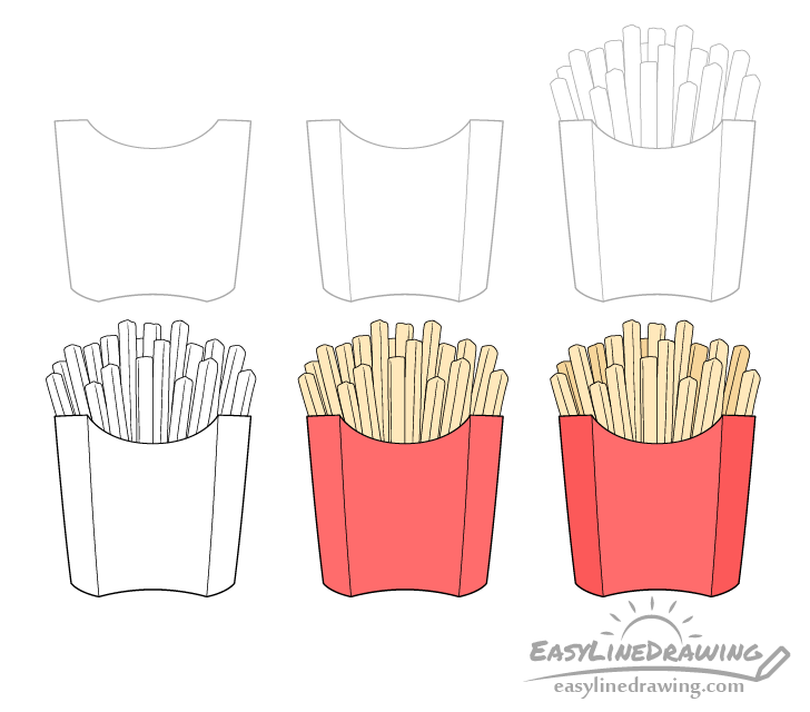 Fries drawing step by step