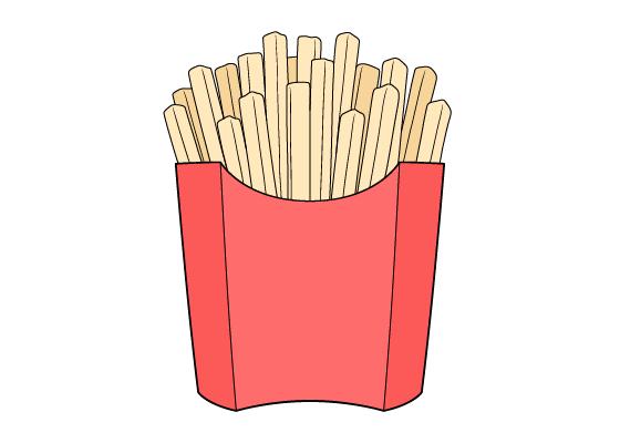 Fries drawing tutorial