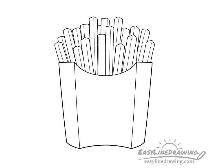 Fries line drawing