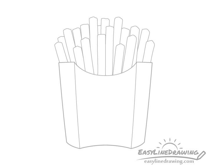 Fries outline drawing