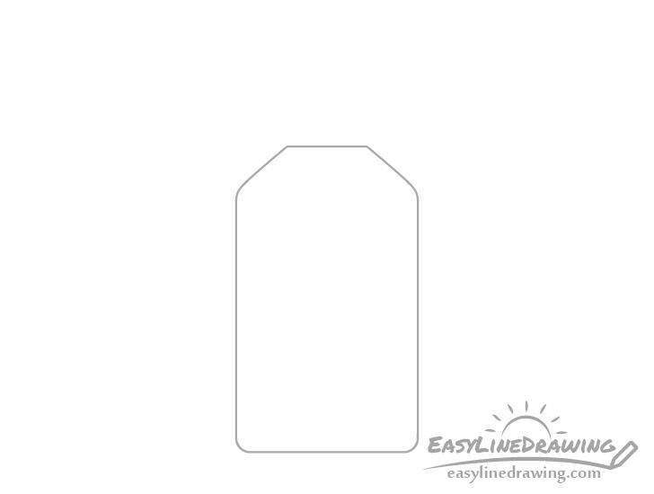 Hand sanitizer bottle drawing