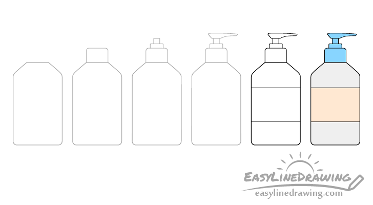 Hand sanitizer drawing step by step