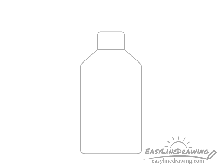 Hand sanitizer lid drawing