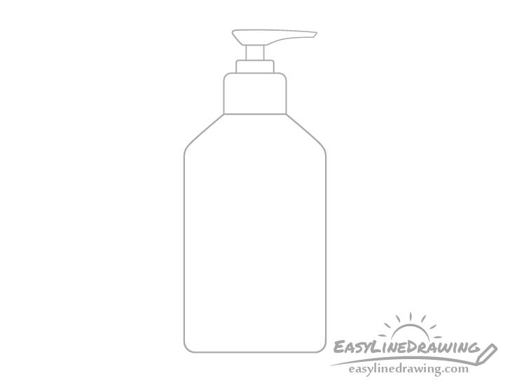 Hand sanitizer pump actuator drawing
