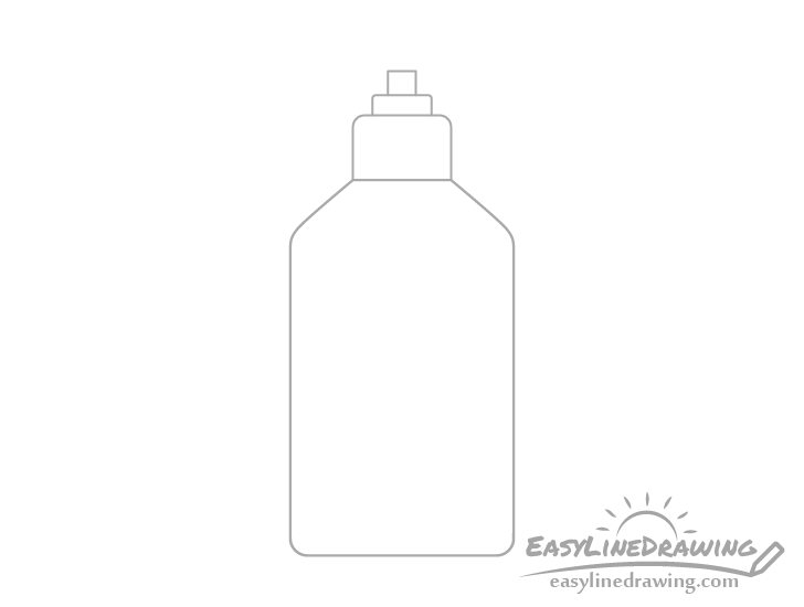 Hand sanitizer pump parts drawing