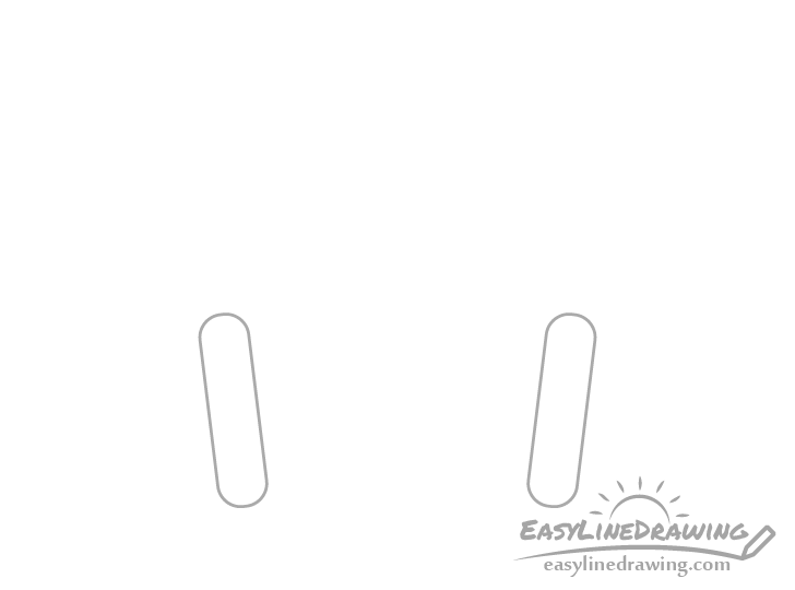 Headphones ear pads drawing