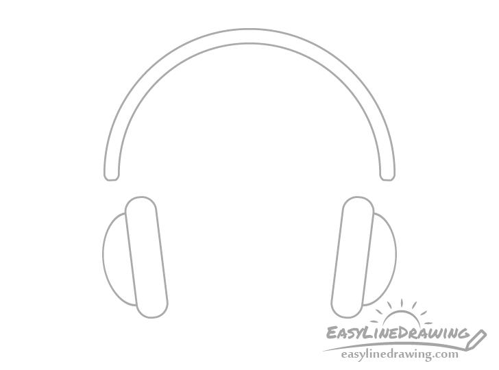 Headphones headband drawing