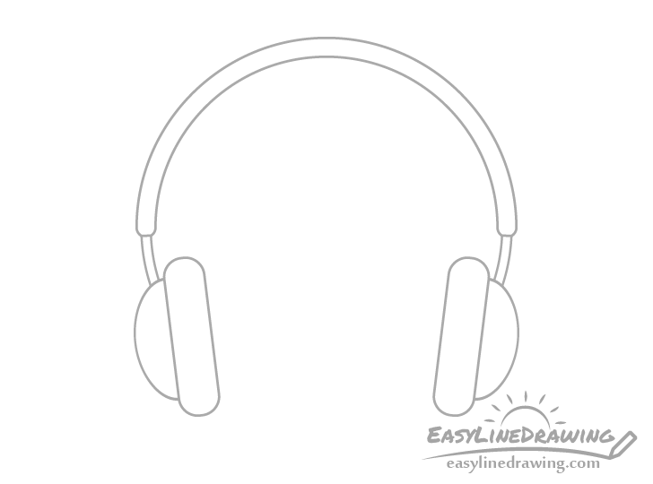 Headphones sliders drawing