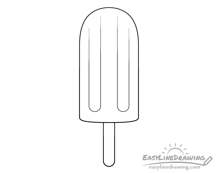Ice pop line drawing
