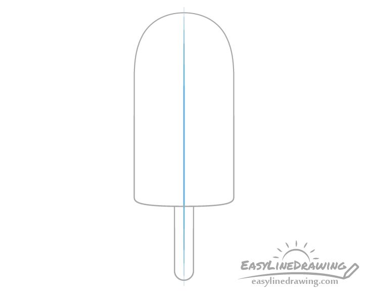 Ice pop stick centerline drawing