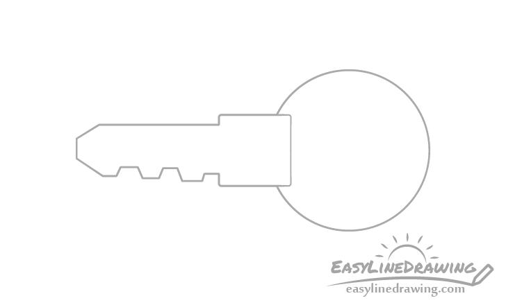 Key head drawing