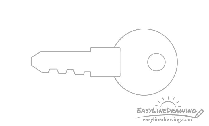 Key hole drawing