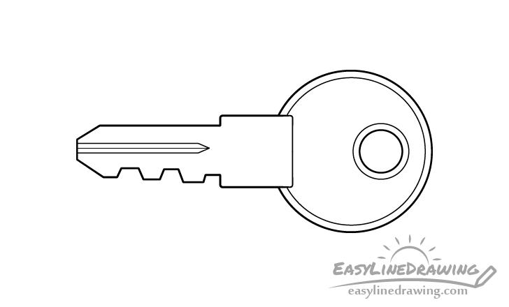 Key line drawing