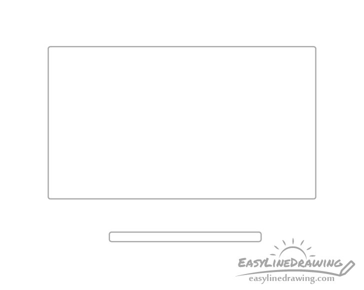 Monitor leg bottom drawing