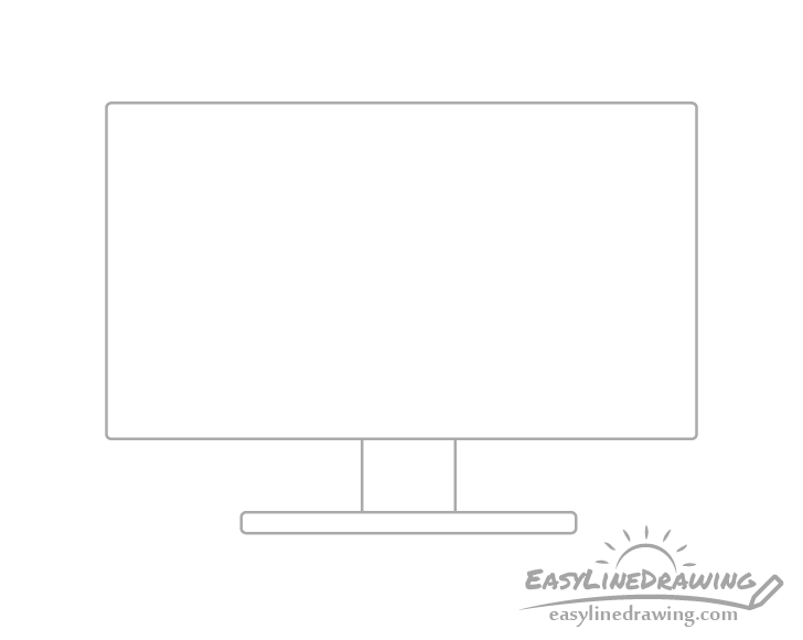 Monitor leg drawing