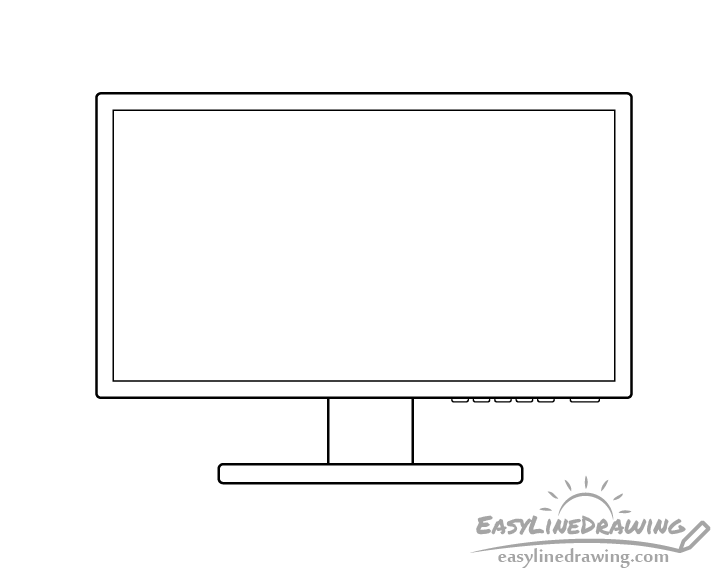 Monitor line drawing