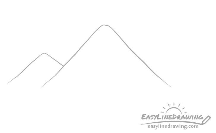 Mountains background drawing