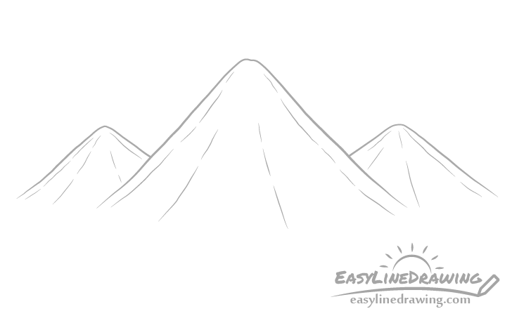 Mountains drawing drawing