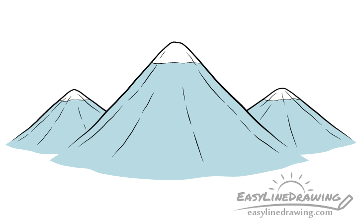 Mountains drawing