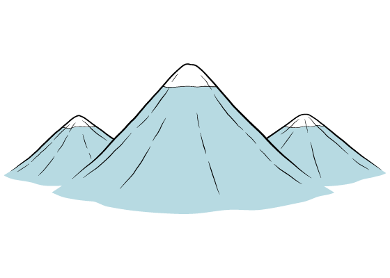 Mountains drawing tutorial