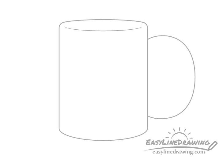 Mug handle outline drawing