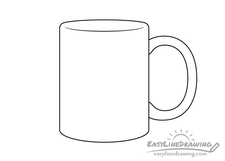 Mug line drawing