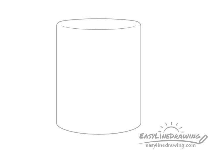 Mug top drawing