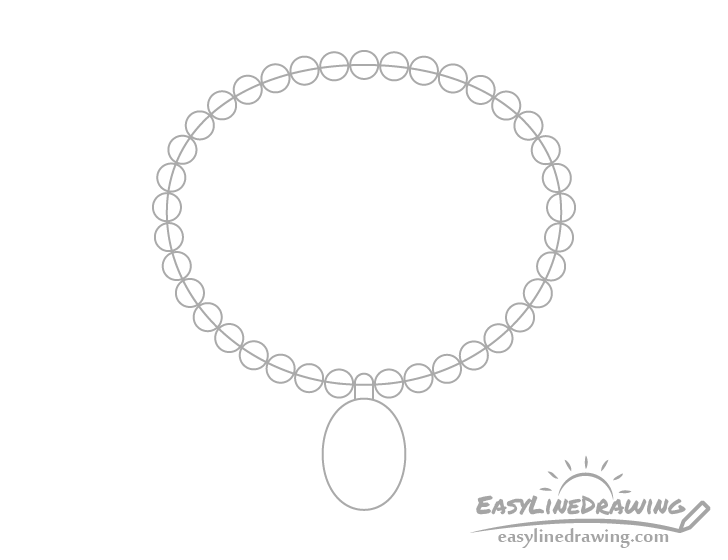 Necklace beads drawing