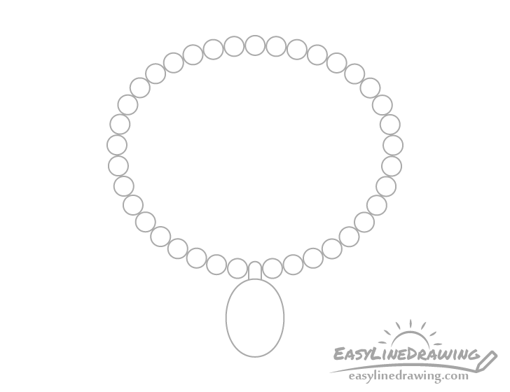 Necklace outline drawing