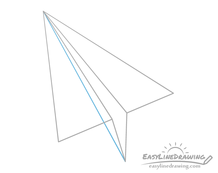 Paper airplane bottom see through drawing