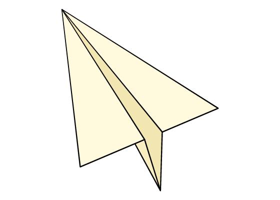 Paper airplane drawing tutorial