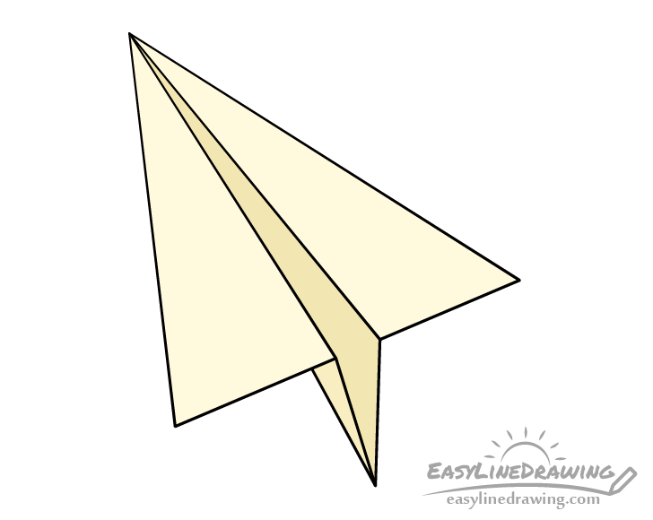 Paper airplane drawing