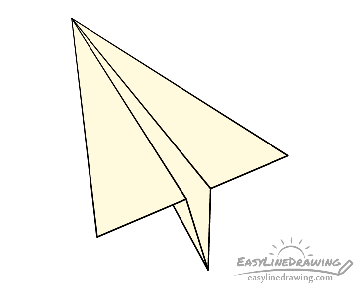 Paper airplane drawing coloring