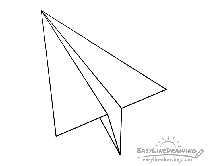 Paper airplane line drawing